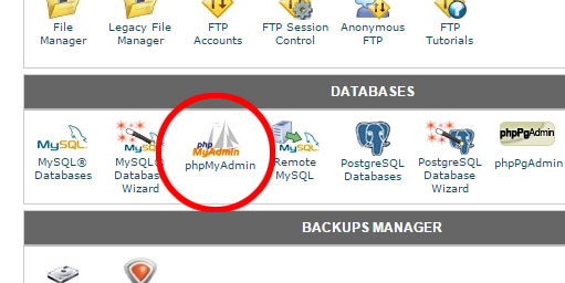 Going to phpMyAdmin