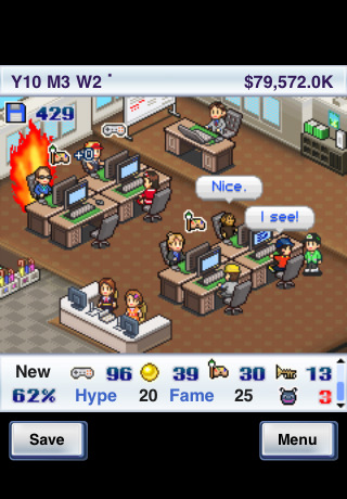 Your office in Game Dev Story
