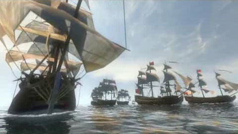 Naval battles in the game Empire Total War