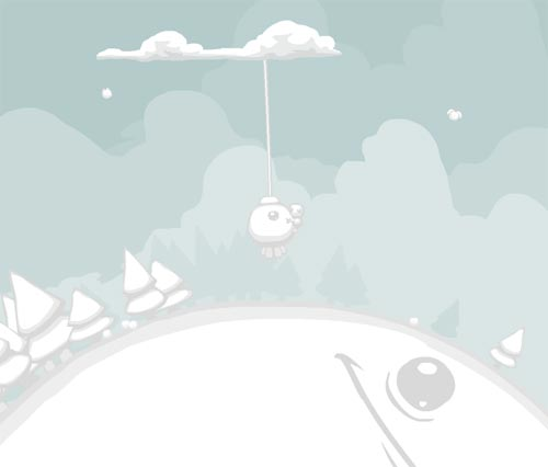 A scene from the game Aether