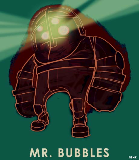 Mr. Bubbles, a design for one of the Big Daddies in BioShock
