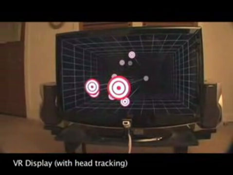 Johnny Chung Lee's head tracking using the WiiMote example