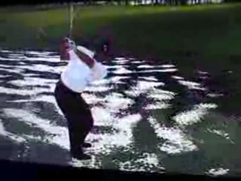 Tiger Woods playing as Jesus