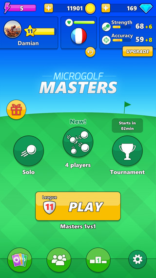 Playing MicroGolf Masters