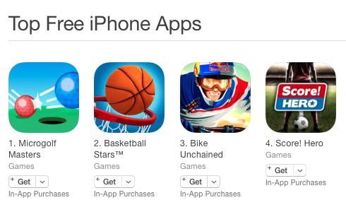 Top free sports on the iOS French store