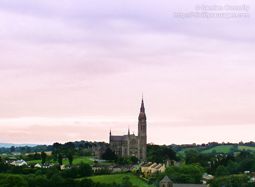 A landscape shot of Monaghan Cathedral